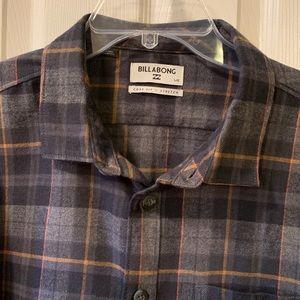 Billabong Stretch plaid flannel shirt, Large, NWOT